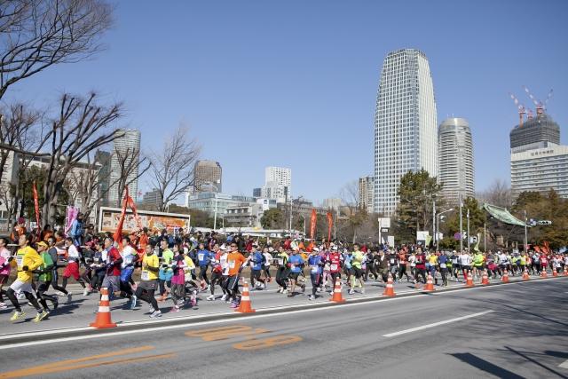 東京マラソンの様子