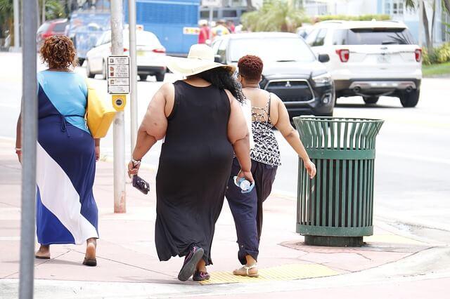 超肥満の外国人女性の後ろ姿
